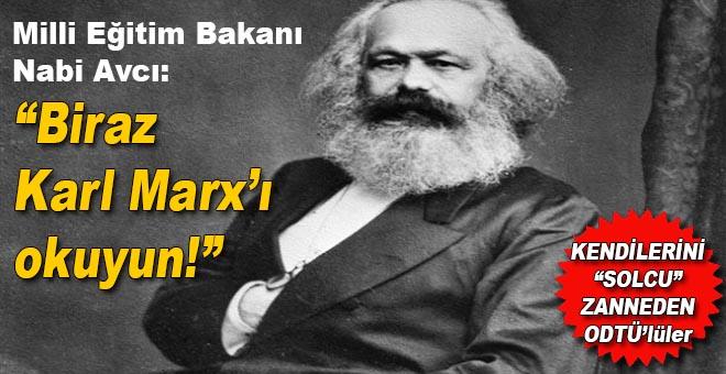 Bakan Avcıdan öğrencilere Karl Marx tavsiyesi
