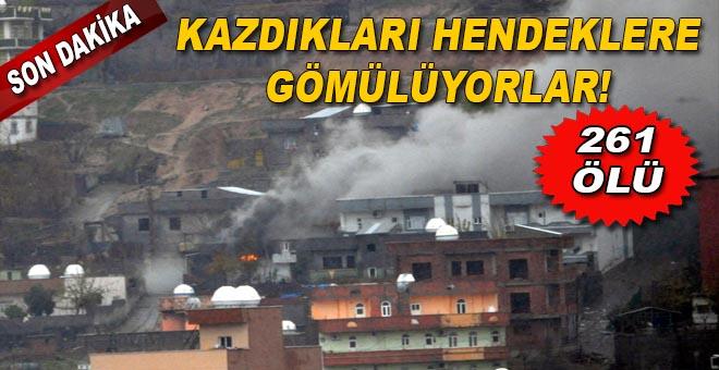 Son dakika: 3 ilçedeki operasyonlarda 261 PKK'lı etkisiz hale getirildi.
