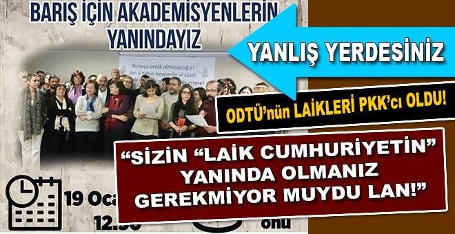 ODTÜ'de PKK'ya destek yürüşüyü