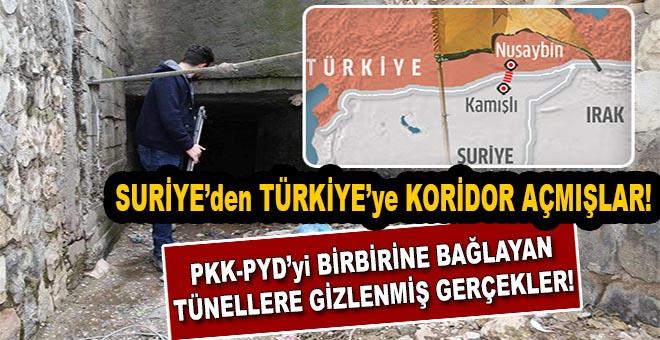 """Suriye'den Türkiye'ye """"Koridor"""" açmışlar bile; Tünellerle ortaya çıkan gerçek!"""