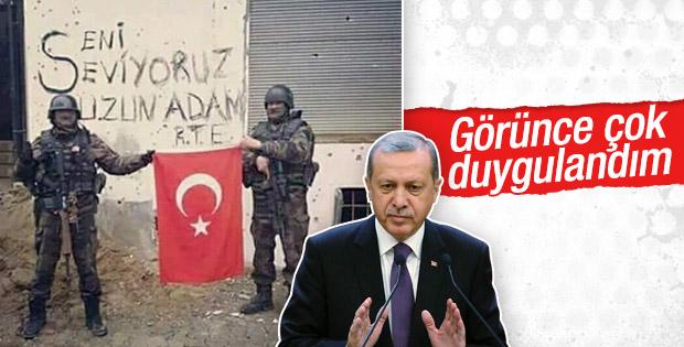 Erdoğan'a gönderilen 'uzun adam' fotoğrafı