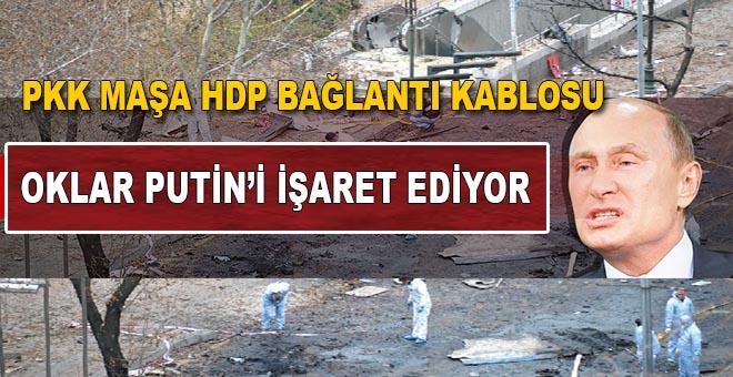 Oklar Putin'i gösteriyor; PKK maşa!