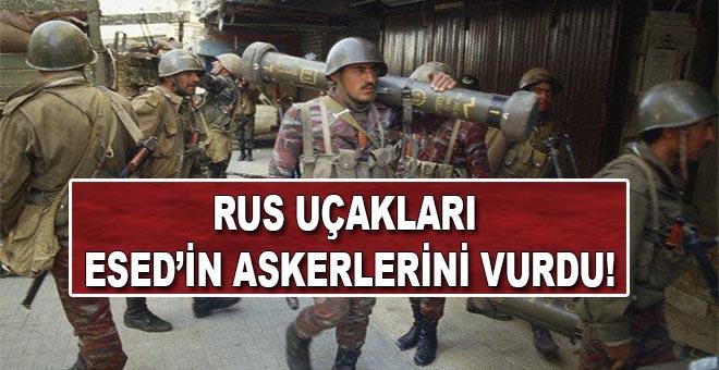 Rus uçakları Esed'in elit ordusunu vurdu