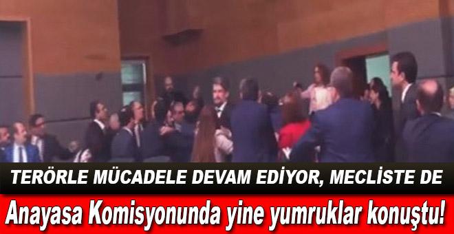 Anayasa Komisyonunda yine yumruklar konuştu!