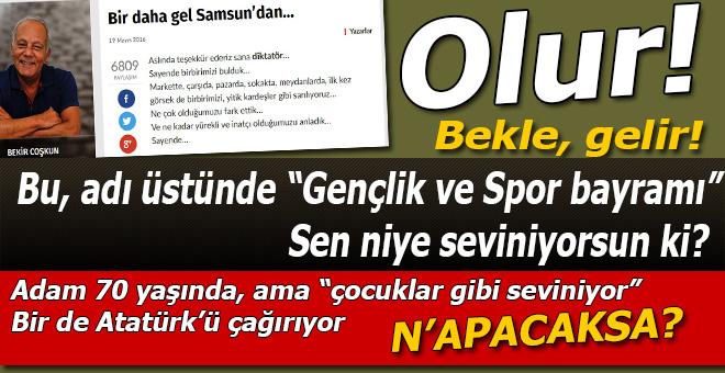 """70 yaşında, """"çocuk ve spor"""" bayramında coştu! """"Bir daha gel Samsun'dan"""" Bekir seni çağırıyor!"""