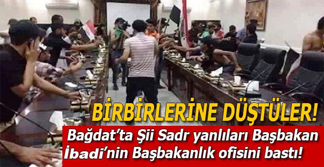 Bağdat'ta Şiiler Başbakanlık ofisini bastı!