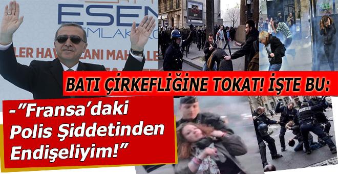 """Cumhurbaşkanı Erdoğan: """"Fransa'daki polis şiddetinden endişeliyim!"""""""