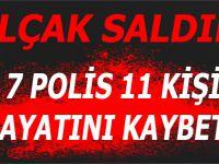 İstanbul'da alçak saldırı; 7 polis, 11 kişi hayatını kaybetti!
