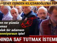 Şehit eşi Kılıçdaroğlu'nun yanında saf tutmak istemedi