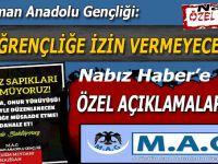 """Müslüman Anadolu Gençliği; """"Bu sapkınlığa izin vermeyeceğiz!"""""""