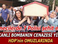 """İstanbul'daki """"Canlı bomba""""nın cenazesi yine HDP'nin omuzlarında!"""