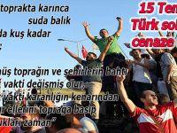 15 Temmuz: Türk solunun cenaze töreni