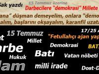"""Şükrü Sak yazdı; Darbecilere """"demokrasi"""", Millete ölüm!"""