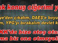 Bunlar PKK'nın ezilmesini istemiyorlar ama bunu böylece de dillendiremiyorlar.