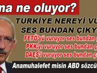 Türkiye nereyi vursa ses bundan çıkıyor; Ana muhalefet misin, ABD sözcüsü müsün?