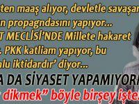 """Bunlar """"siyaset""""(!) yapamadıkları için PKK katliam yapıyormuş!"""