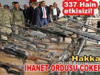 Hakkari'deki terör operasyonlarında 337 hain etkisiz hale getirildi!