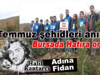 Bursa'da 15 Temmuz şehidleri için hatıra ormanı!
