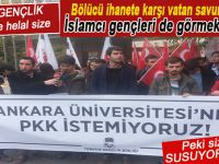 TGB'li gençlikten Ankara Üniversitesinde PKK'ya tepki!