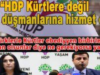 HDP Kürtlere değil ülke düşmanlarına hizmet etti!