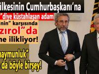 Kendi ülkesinin Cumhurbaşkanına hakaret eden adam Alman Cumhurbaşkanı karşısında, bir yere eğilmediği kaldı!