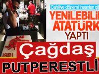 """Acıkınca yenilebilen """"etten Atatürk!"""""""