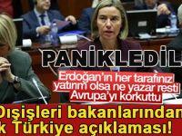 Erdoğan'ın çıkışının ardından; AB dışişleri bakanlarından ortak Türkiye açıklaması