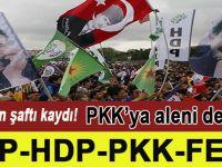 """CHP ve HDP, """"FETÖ ve PKK""""ya destek mitinginde birleştiler!"""