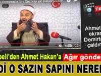 """Cübbeli Ahmet Hoca'dan Ahmet Hakan'a """"ağır"""" gönderme; Şimdi o sazın sapını..."""
