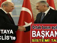 Başbakan ve Bahçeli'den ortak açıklama; Başkanlık sistemi tamam!
