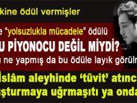 Tayyip Erdoğan'la papaz olana Avrupa ödüller yağdırıyor.