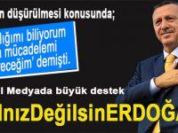 Cumhurbaşkanı Erdoğan'a sosyal medyada büyük destek!