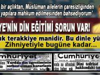 Ufuk Coşkun; Türkiye'nin din eğitimi sorunu var