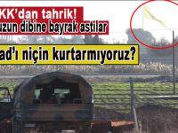 PKK/PYD'den tahrik; Burnumuzun dibine bayrak astılar!