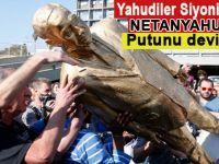 Yahudiler Netanyahu'nun heykelini yıktı