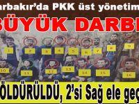 Diyarbakır'da PKK'nın üst yönetimine büyük darbe