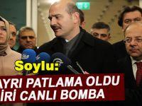 İçişleri Bakanı Soylu :İki Patlama Oldu, Biri Canlı Bomba!