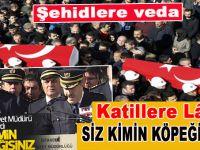 İstanbul'da şehitler için veda töreni