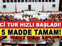 Anayasa değişiklik teklifinde 5 madde kabul edildi
