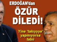 Bülent Arınç, Cumhurbaşkanı Erdoğan'dan özür diledi!