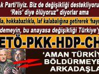 """""""Aman Türkiye'yi böldürmeyelim arkadaşlar!"""""""