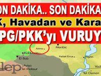 Son dakika; TSK, havadan ve karadan,  Menbiç batısındaki YPG/PKK mevzilerini vuruyor!