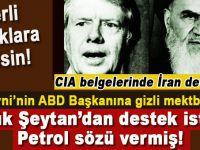 CIA Belgelerinde; Humeyni'nin devrimden önce ABD başkanı Jimmy Carter ile olan mesajlaşmaları..