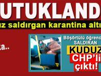 Başörtülü öğrenciye saldıran CHP'li kuduz tutuklandı!