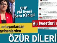 """CHP PM üyesi Kadıgil; """"Yanlış anlayanlardan ve samimiyetle incinenlerden özür dilerim!"""""""