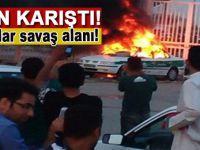 İran karıştı; sokaklar savaş alanı gibi!