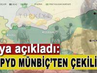 """Rusya açıkladı; """"PYD/PKK Münbiç'ten çekiliyor!"""""""