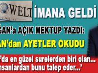 """Alman Die Welt'den Cumhurbaşkanı Erdoğan'a açık mektup; """"Kur'an'ın 55. suresinde der ki.."""""""
