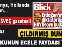 """Alın bakalım; Bu da İsviçre gazetesi; """"Erdoğan'ın diktatörlüğüne 'Hayır' oyu kullanın"""" diyor!"""