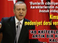 """Erdoğan; """"Bunların cibilliyetlerinin, karakterlerinin ne kadar bozuk olduğunu..."""""""